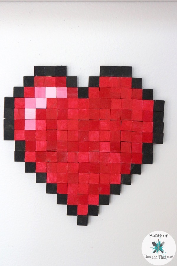 DIY 8-bit Heart! Nerdy Crafts for Valentines Day!