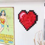 DIY 8-Bit Heart!   Nerdy Crafts!