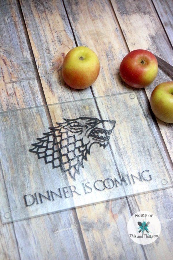 DIY Game of Thrones Cutting Board! Such a fun Nerdy craft!