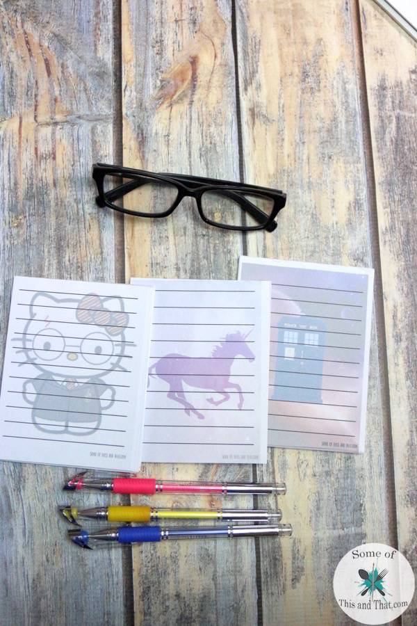 Easy Customizable DIY Notepads! Check out how to make your notepads!