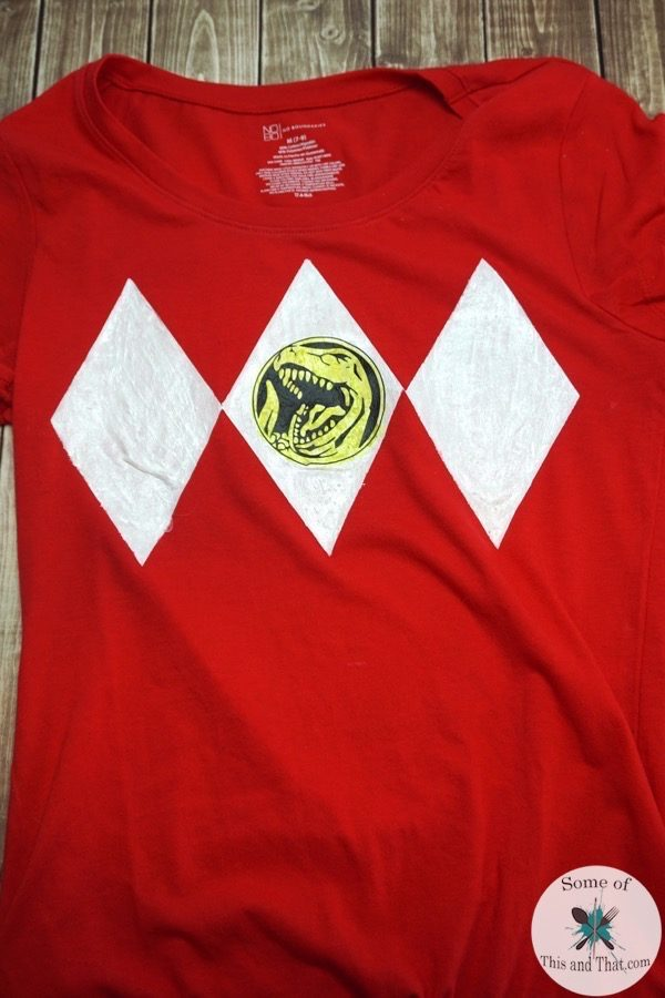 DIY Power Ranger Shirt using freezer paper!