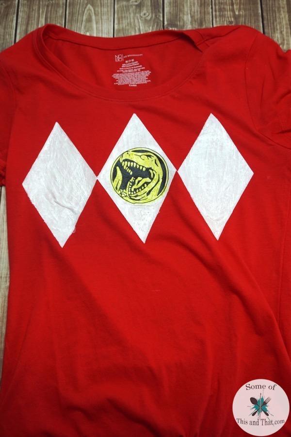 DIY Power Ranger Shirt using freezer paper!