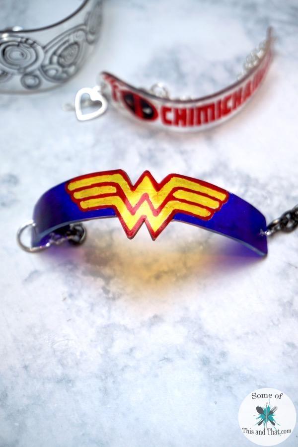 DIY Nerdy Shrinky Dink Bracelets!