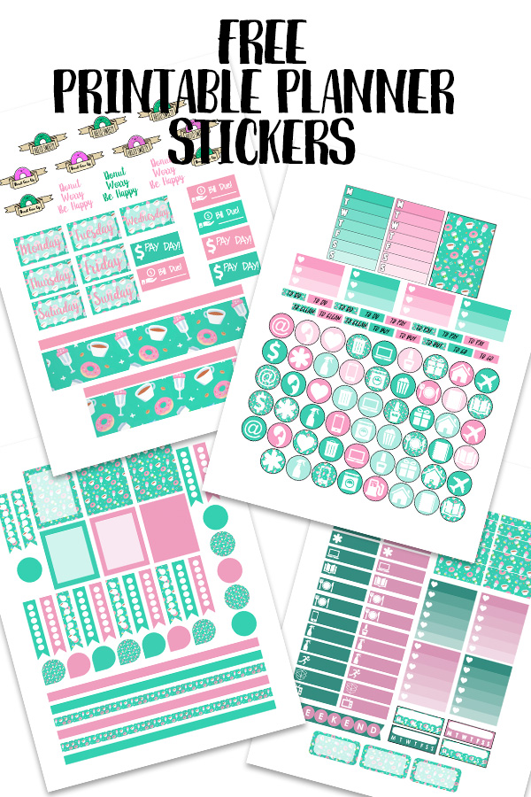 graphic regarding Free Printable Food Planner Stickers named Totally free Planner Stickers Archives - Some of This and That