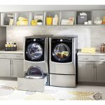 Laundry is less stressful with the LG Front Load Washer