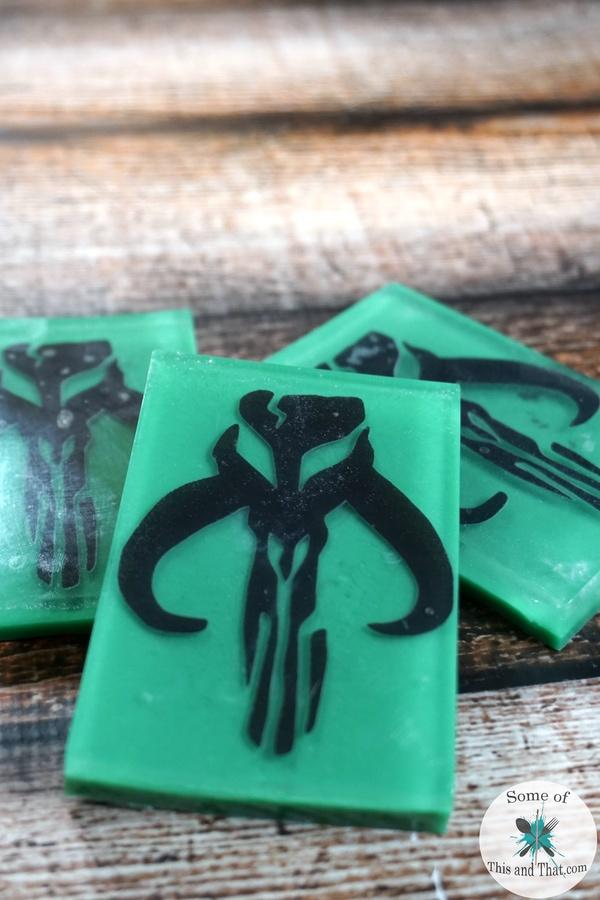 DIY Mandalorian Soap Handmade Star Wars Soap! A simple and fun Homemade gift idea for a star wars fan!