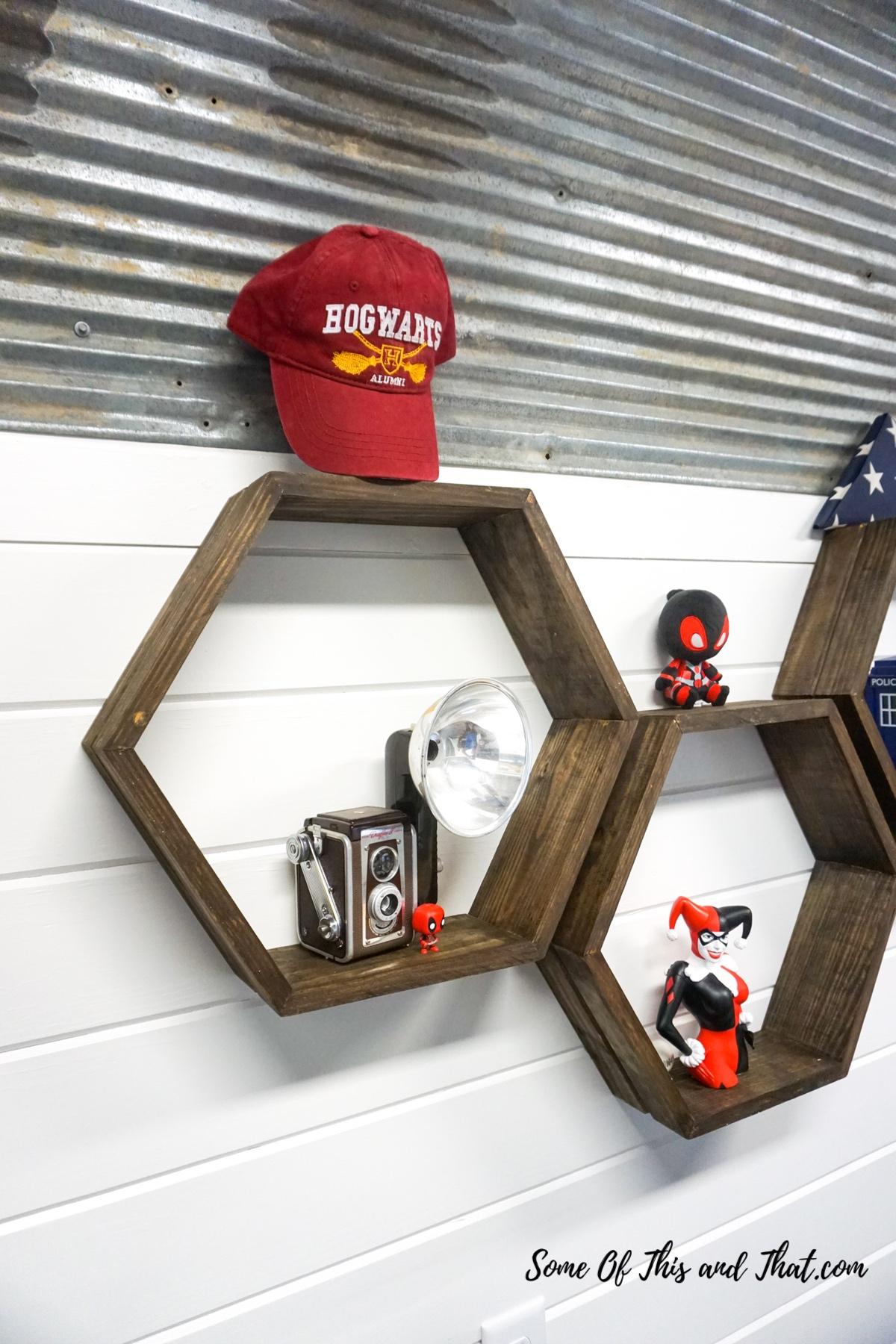 DIY Hexagon Shelves