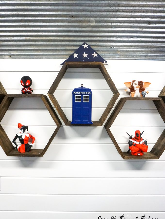 DIY Hexagon Shelves