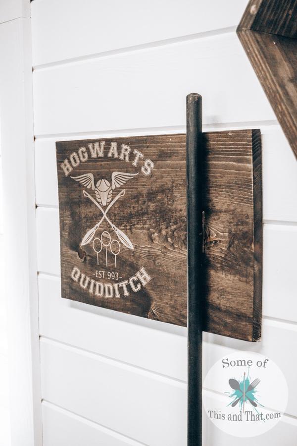 DIY Harry Potter Quidditch Broom Holder