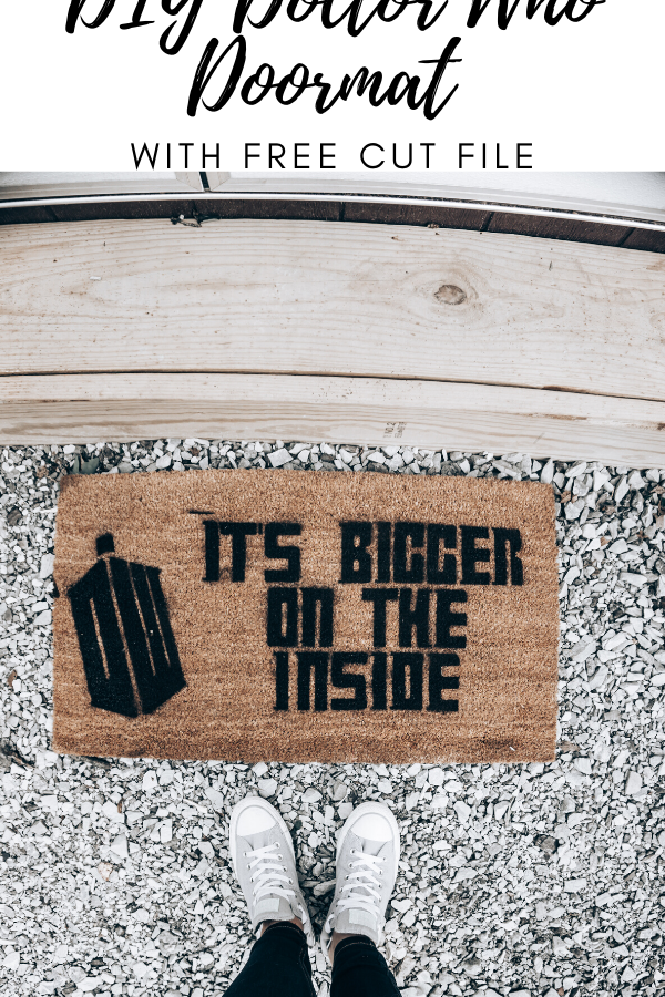 DIY Doctor Who Doormat with Free Cut File